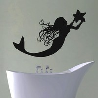 Wall Decal Vinyl Sticker Fantasy Girl Mermaid Baby Room Nursery Decor Sb348