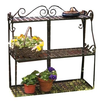 SheilaShrubs.com: Forged Metal 3-Tier Plant Stand - Black 89193 by Panacea: Plant Stands
