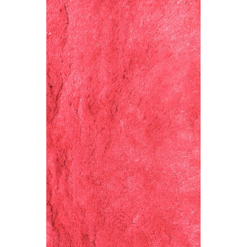 LA Rugs Silky Shag Collection Pink Area Rug