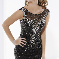 Short Beaded and Sequined Dress by Hannah S