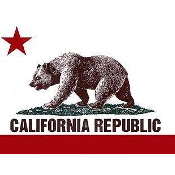 California Republic State Flag Bear Bumper Sticker Decal Stickers