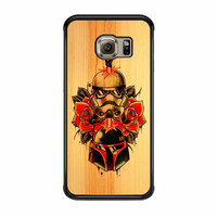 Star Wars Roses Tatto In Wood Samsung Galaxy S6 Edge Case