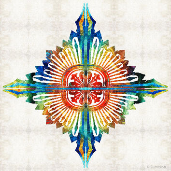 Pattern Art - Color Fusion Design 1 By Sharon Cummings