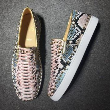 PEAPUX5 Cl Christian Louboutin Pik Boat Style #2294 Sneakers Fashion Shoes
