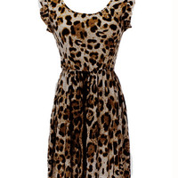 'The Kiara' Leopard Print Sleeveless Mini Dress