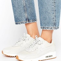 Nike Air Max 90 Premium Trainers In Beige at asos.com