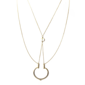 Heat It Up Layered & Chain Necklace In Gold