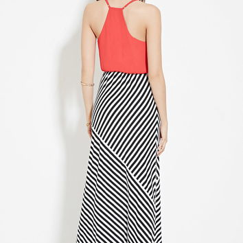 Surplice Striped Maxi Dress | Forever 21 - 2000168047
