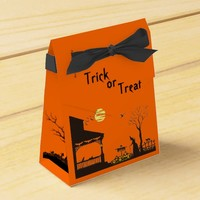 "Ten Halloween tent favor box ""Heading Home"""