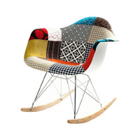 Patchwork Modern Ash Wood Rocker