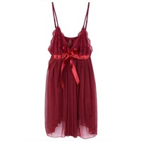 Women Lingerie Dress Intimate Sleepwear Nightwear Dress + G-string on Luulla