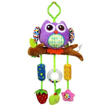 0M+ Soft Cartoon Owl Rattle Baby Toys Stroller Mobile Toy Newborn Educational Toys bebek oyuncak