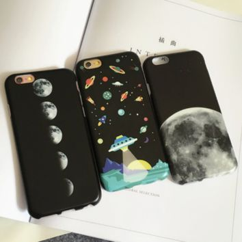 Earth UFO  Case Cover for Apple iPhone 6 6S 6 Plus 6S Plus DC0823-001