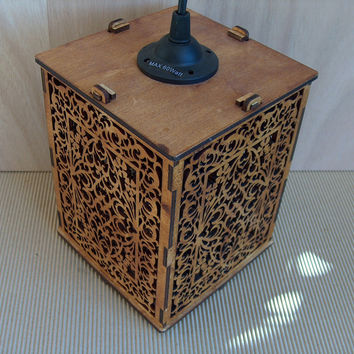 Plywood Lamp shade by InvenioCrafts on Etsy