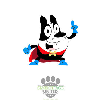 Boston Terrier superhero decal - Boston dog vinyl stickers - Smooshface United breed bias - #bostonlove