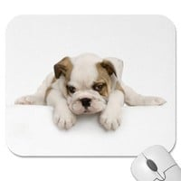 English Bull Dog Mousepad from Zazzle.com