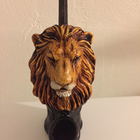 Tobacco Hand Made Pipe, Lion Design