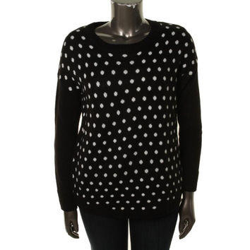 AGB Womens Polka Dot Long Sleeves Pullover Sweater