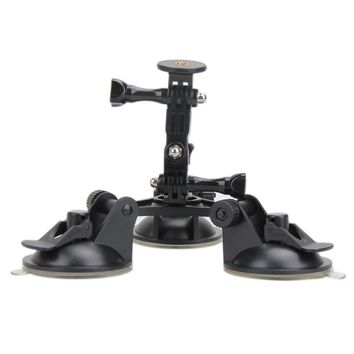 1/4 inch Screw Sucker Tripod Mount Car Phone GPS Holder 3 Suction Cup Holder For Gopro Hero 5 4 Camera