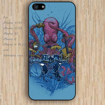 iPhone 5s 6 case Cartoon Octopus music phone case iphone case,ipod case,samsung galaxy case available plastic rubber case waterproof B693