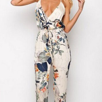 Printed fashion straps jumpsuits 2792841
