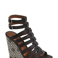 "Women's Lucky Brand 'Labelle' Caged Wedge Platform Sandal, 4 1/4"" heel"