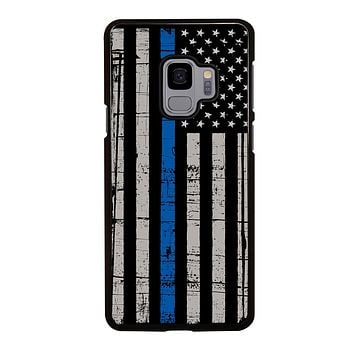 THIN BLUE LINE FLAG Samsung Galaxy S3 S4 S5 S6 S7 Edge S8 S9 Plus, Note 3 4 5 60