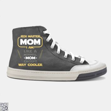 Jedi Master Mom Just Like Normal Mom Except Way Cooler, Mother's Day Skate Shoe