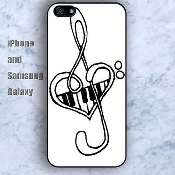 Piano musical notation colorful iPhone 5/5S case Ipod Silicone plastic Phone cover Waterproof