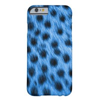 Blue Spotted Cheetah Fur Look Barely There iPhone 6 Case