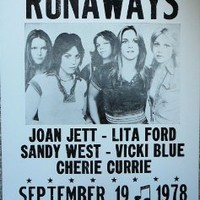 The Runaways At Mabuhay Gardens in San Francisco Poster