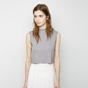 Cropped Mock Neck Tank by Nomia