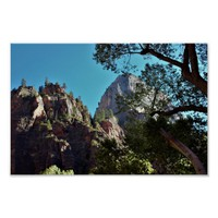 Mountains Zion National Park Poster