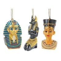 SheilaShrubs.com: Icons of Ancient Egypt Holiday Ornament Collection (Set of 3) WU974814 by Design Toscano: Christmas Tree Ornaments