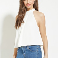 High-Neck Pleated Top | Forever 21 - 2000204235