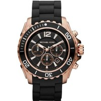 Michael Kors Watches Drake (Black with Rose Gold)
