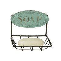 Quaint Blue Soap Dish