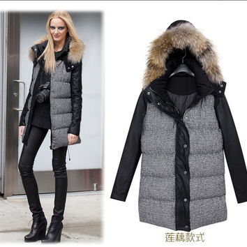 Women's Fashion Winter Hats Padded Plus Size Cotton Jacket [9405062212]