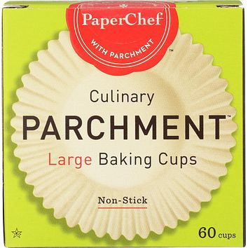 PAPER CHEF: Large Culinary Parchment Baking Cups, 60 Count