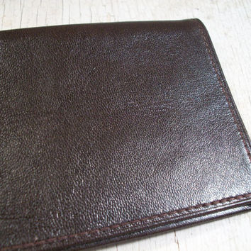 Leather ID Wallet, Mens Wallet, Dead Stock, Brown, Credit Card Holder, Business Card Holder, ID holder, Mad Men, Mens, All Vintage Man