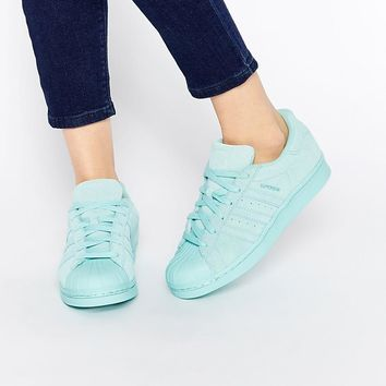 Adidas | adidas Originals Superstar RP Tonal Aqua Sneakers at ASOS