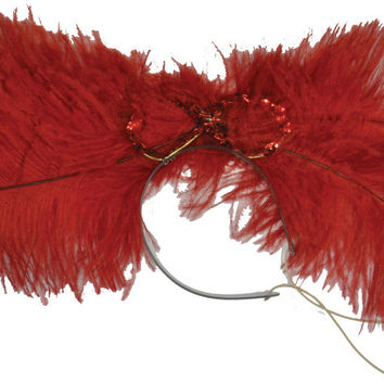costume accessory: dance hall headpiece deluxe | red