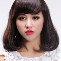 Chestnut Brown Shoulder Length Kanekalon Wig