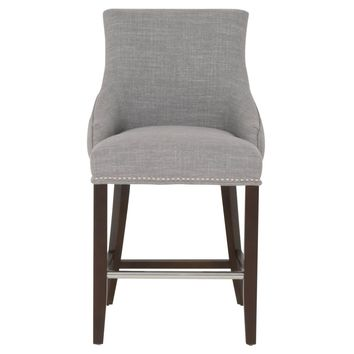 Avenue Counter Stool Smoke Fabric