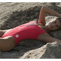 BayWatch One Piece w/ Zipper in Fuego (Red) Swimsuit