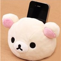 kawaii Rilakkuma plush cellphone holder white bear - Cellphone Accessories - Accessories