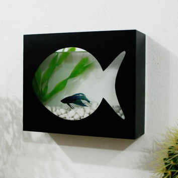 Modern Betta Fish Tank Aquarium - Desktop aquarium or Wall Mounted Fish Aquarium