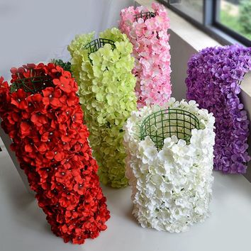 Noble Carpet type Hydrangea DIY Wedding Party Wall Decoration Road Led Stage Flower Decal Photo Background