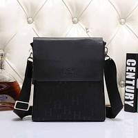 Hermes Men Leather Office Bag Satchel Shoulder Bag Crossbody