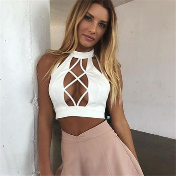 Jersey Girl Cut Out Crop Top